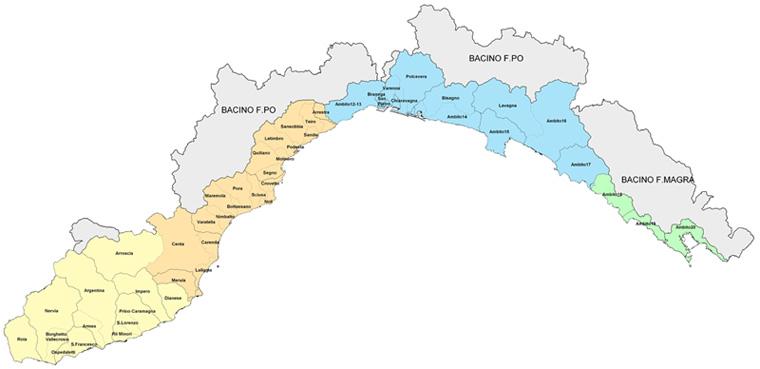 Province Della Liguria Cartina.Piani Di Bacino Sito Ufficiale Della Regione Liguria Per L